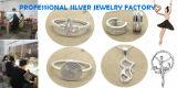 Directamente de fábrica de los nuevos diseños de joyería de plata para la Mujer Colgante de oro rosa de buena calidad