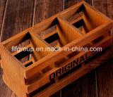 型カラーの旧式でシックな終わりの木の包装ボックス