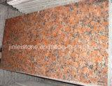 G562 Maple Red Granite Plancher poli pour le marché du Moyen-Orient