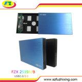 Super vitesse de l'interface SATA 2,5boîte du disque dur sans fil avec mini USB2.0/3.0