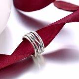 Riga Ringent monili caldi dell'argento sterlina 925 di modo dell'anello dell'argento di vendita per gli uomini e le donne