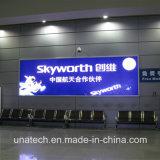 Contenitore chiaro Backlit dell'interno esterno di alluminio LED della pellicola della visualizzazione di parete di media di pubblicità del treno