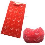 OEM van de fabriek het Embleem van de Opbrengst drukte Rode Polyester Microfiber Naadloze Multifunctionele Bandana af
