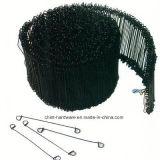 Double fil recuit noir de relation étroite de barre de la boucle Bwg16-20