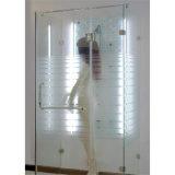 o ácido de 3-19mm moderado gravou o vidro para a porta e o indicador