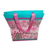 Folded-Shopping elegante bolsa de papel, cinta asas