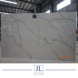 White Calacatta Quartz Stone for Kitchentop/Countertops/Slab in Project House