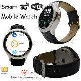 Smart Android mobile 3G montre avec moniteur de fréquence cardiaque (X1)