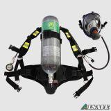 Apparecchiatura respirante dell'aria del serbatoio autonomo del carbonio di pressione positiva