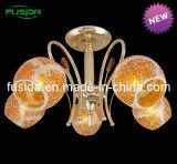 Lâmpada Pendente de vidro laranja populares em vidro amarelo