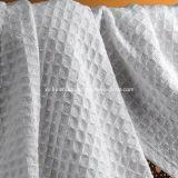 Tejido 100% algodón Waffle y tela de nido de abeja
