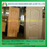 Piel moldeada/laminada de la puerta de la madera contrachapada con la chapa de madera natural o dirigida