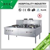 2 gamme de gaz de cuisine chinoise au wok avec ventilateur