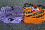 Halloweenのプラスチックカボチャバスケット(HW010)