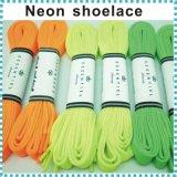 El neón naranja / amarillo / verde zapato cordones