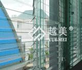 prijs van de Comités van het Dakwerk van het Polycarbonaat van de Muur van 6mm de Transparante Dubbele