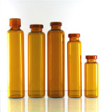 Het amber Flesje van het Glas voor Mondelinge Oplossing
