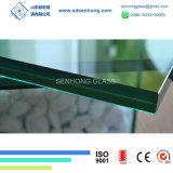 13,8mm Verde Gris azul claro vidrio laminado de bronce
