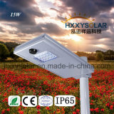 15W Motion Sensor Integrated LED Solra Street Light
