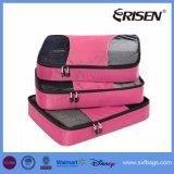 Cubes en emballage des poches 3PCS de compactage de bagage d'organisateur de course