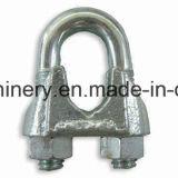 DIN1142亜鉛によってめっきされる可鍛性鉄ワイヤーロープクリップ