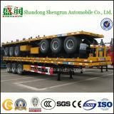 Hete Container 3 van de Verkoop 40FT Semi Aanhangwagen van het Bed van Assen de Vlakke