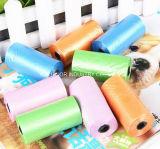 Sacchetti di plastica biodegradabili dello spreco di Poop del Doggy su rullo per la famiglia