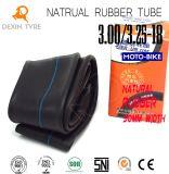 Câmara de ar de borracha natural de grande resistência original 3.00/3.25-18 de câmara de ar interna da motocicleta