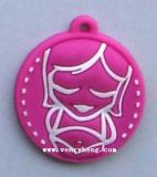 Promoção 3D O logotipo personalizado chaveiro plástico para Dom Venda Quente