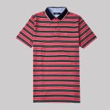 Baumwollpolo-Hemd des China-Shirt-Hersteller-Streifen-100 für Männer