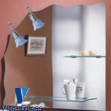 Argento/Aluminum/Copper Free/Safety/Decoration Glass Mirror Glass per Bathroom Mirror