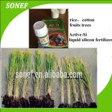 Fertilizante orgânico líquido orgânico de silício ativo para algodão / arroz / trigo