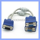 Doppeltes Magnet Circular Extension Cable 1 bis 2 VGA Cable für Projector Computer VGA Frequency Dividing Wire
