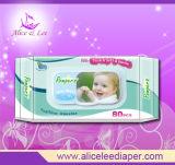 Chiffons biodégradables de bébé (ALS-80B)