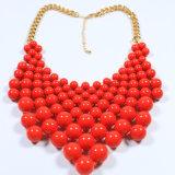 Neuer Entwurfs-roter Acrylform-Schmucksache-Halsketten-Armband-Ohrring