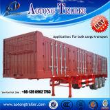Aotong 3 Ladung-Transport halb Tralier der Wellen-50t für Verkauf