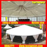 ケイタリングの直径10m 100の人のSeaterのゲストのための2018柔らかい壁のマルチ側面のテント