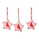 Jogo do ornamento de suspensão de madeira do Xmas 9 para a decoração 3asst do Natal no estoque