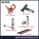 空気のない吹き付け器の付属の先端監視または銃の先端かフィルターまたはホースの旋回装置