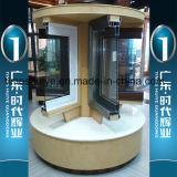 Portelli di alluminio del balcone con i doppi vetri e decorazione