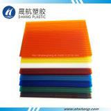 Comitati di plastica rivestiti UV di Daylighting della cavità del policarbonato