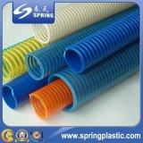 Plástico de PVC reforzado en espiral de succión en polvo manguera de jardín de tubería