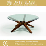 The USA Carton standard 10mm CLEAR Round Table Glass/Furniture Dining Coffee Tabletop Protectors Tempered/Toughened Glass
