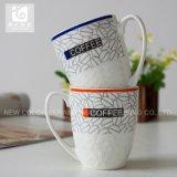Graver la tasse en céramique de tasse de thé de logo de compagnie de modèle
