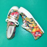 2015の新しいデザインハンドメイドの女性のズック靴