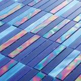 Azulejo de mosaico azul de lujo al por mayor del vidrio manchado del color 3m m