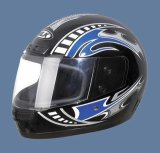 De volledige Helm van het Gezicht (106-Black&Blue)