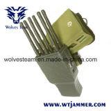 Todas las bandas de 6 mano y la señal GPS celular Jammer con carcasa de nylon