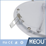 Luz Recessed do diodo emissor de luz do painel do diodo emissor de luz do painel da venda 15W alumínio claro superior