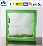 Constructeur de bloc en verre de la brique en verre de couleur du prix bas 190*190*80nn